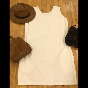 Natural Cotton shift with pockets!!